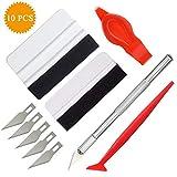 TBoonor Folien Werkzeug Set Rakel Set folierungs Rakel mit Präzisionsmesser und Folienrakel für Autofolie Tönungsfolie Installation Werkzeug (8+2 PCS)
