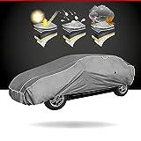 Walser Auto Hagelschutzplane Hybrid UV Protect PKW, wasserdichte atmungsaktive UV-beständige Hagelschutzgarage inkl. Spanngurtset, Größe: L 30965