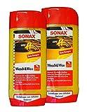 Preisjubel 2 x SONAX Wasch&Wax 500ml, Auto-Shampoo, Autowäsche, Auto-Wachs, Versiegelung