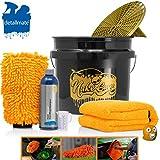 detailmate Set Handwäsche: GritGuard Wascheimer 3,5 GAL + Grit Guard Einsatz + Liquid Elements Orange Baby XL Trockentuch + Koch Chemie NanoMagic Autoshampoo 750ml + Waschhandschuh + Messbecher