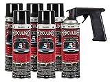 HERCULINER Beschichtung Spray 6x Dose schwarz inkl. Handgriff 6x 440ml
