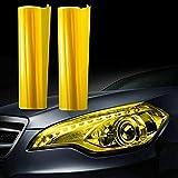 Scheinwerfer Folie Gelb 20x30cm Tönungsfolie Nebelscheinwerfer Rückleuchten Vorderleuchten (12€ pro m²)