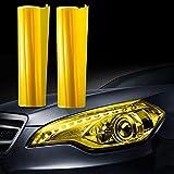 JZK 30cm x 200cm Auto Licht Tönungsfolie Scheinwerfer Rückleuchten Nebelscheinwerfer Lampen Folie Aufkleber gelb
