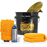 detailmate Set Handwäsche: GritGuard Wascheimer 3,5 GAL + Grit Guard Einsatz + Liquid Elements Orange Baby XL Trockentuch + Koch Chemie NanoMagic Autoshampoo 750ml + Waschhandschuh + Messbecher